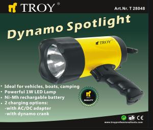 Lanternă WLED cu dinam Troy T28048, 80 lm1
