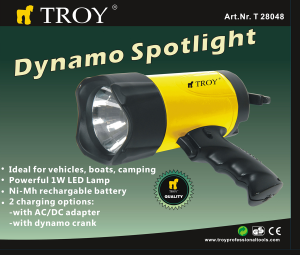 Lanterna WLED cu dinam Troy T28048, 80 lm1