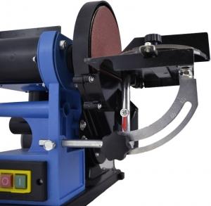 Mașină de șlefuit cu bandă staționară si disc șlefuitor GBTS 400 Guede 55135, 350 W, 1450 rpm1
