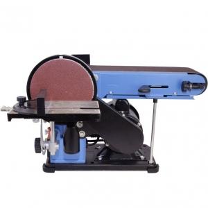 Mașină de șlefuit cu bandă staționară si disc șlefuitor GBTS 400 Guede 55135, 350 W, 1450 rpm0