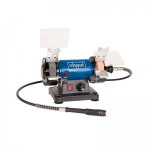 Polizor de banc pentru lustruire HG34 + cutie de accesorii Scheppach SCH5903106901, 120 W, 9900 rpm1
