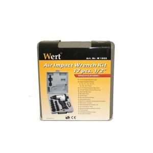 """Cheie pneumatică cu percuție Wert W1855, 1/2"""", 6-8 bari, 17 piese - set1"""