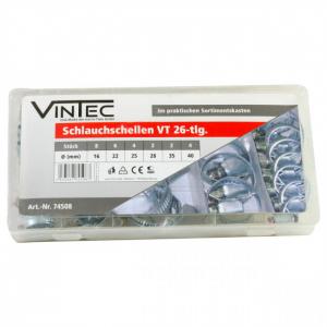 Set coliere metalice Vintec VNTC74508, Ø16-40 mm, 26 piese0