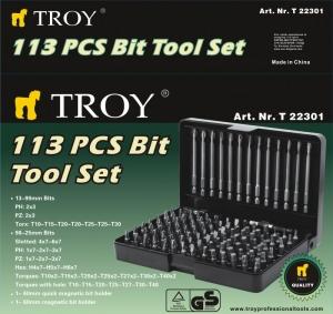 Trusa de biti Troy T22301, 113 bucati1