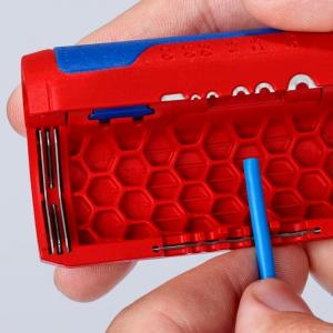 Taietor de teava ondulata si dezizolator Knipex KNI902202SB, Ø13-32 mm8
