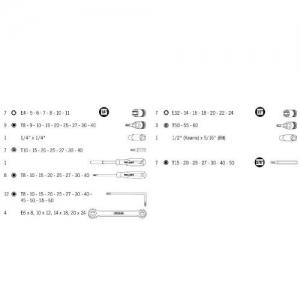Trusă șurubelnițe și chei de 1/4″ și 1/2″ Projahn PRJHN4032, 67 piese1