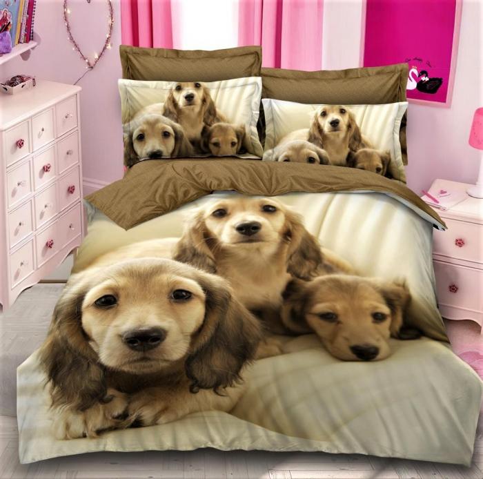 Lenjerie de pat Finet 6 piese,imprimeu animale-AM2 [0]