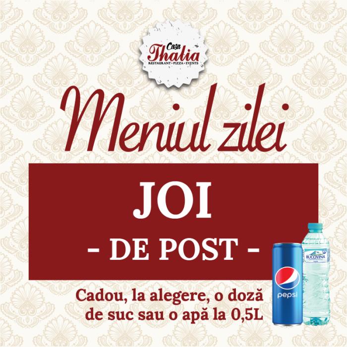 Meniul zilei de Joi - de Post [0]