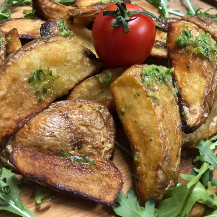 Cartofi în coajă cu usturoi 0