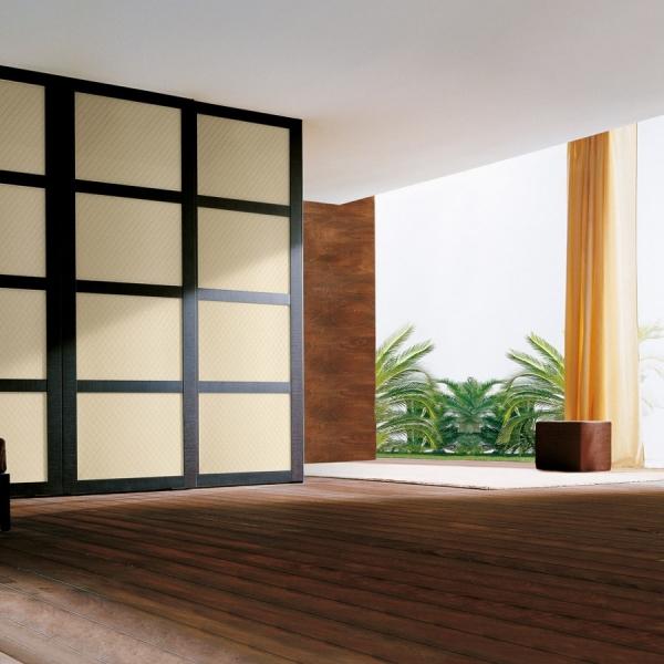 Panou de perete 13863 ROMBO 40 din piele culoare bej mată 2
