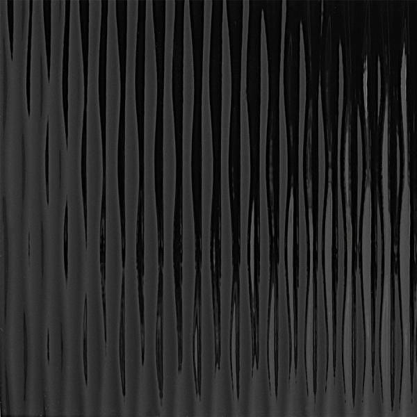 Panou de perete 15956 MOTION ONE Structure Waves Optică 3D din plastic negru 1