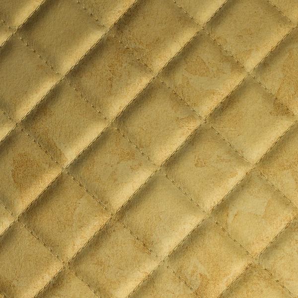 Panou de perete 17849 ROMBO ANTIGUA -aspect piele aurie 1