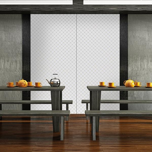Panou de perete- 17856- Optica 3D mozaic aur + alb [2]