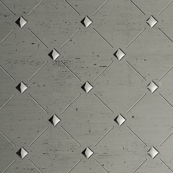 Panou de perete 17857 3D Mozaic Optic Platinum Gri Argintiu 1