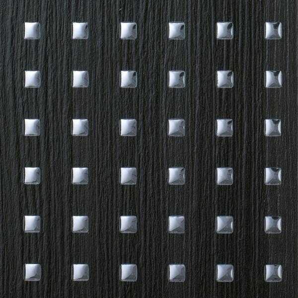 Panou decorativ 12549 3D QUAD aspect  metalic din lemn 3D Optica Negru de argint 1