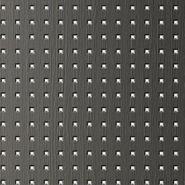 Panou de perete 12557 3D QUAD Pătrat din lemn 3D optic gri argint 0