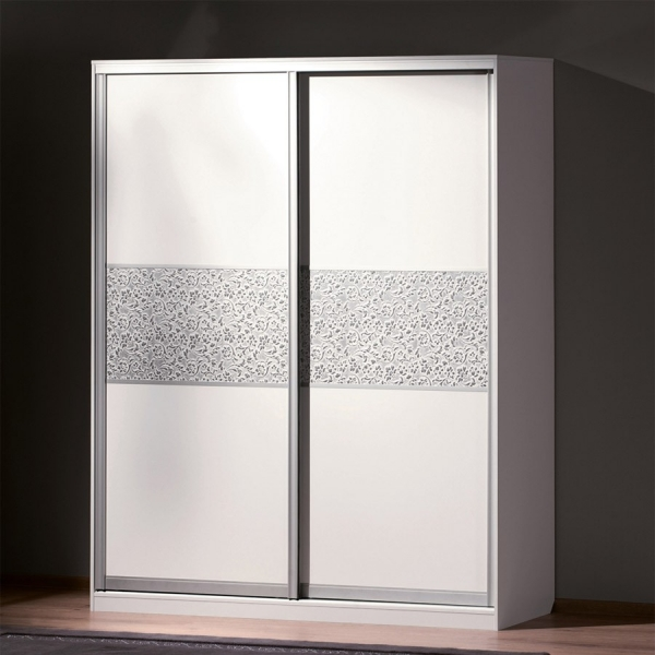 Panou decorativ 13414 FLORAL Baroque din piele 3D optic - argint alb 4