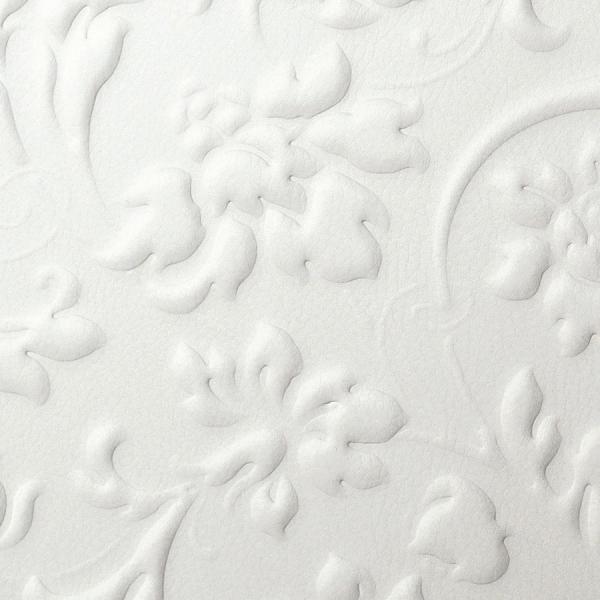 Panou decorativ 13473 FLORAL Baroque din piele 3D culoare oțel alb 1