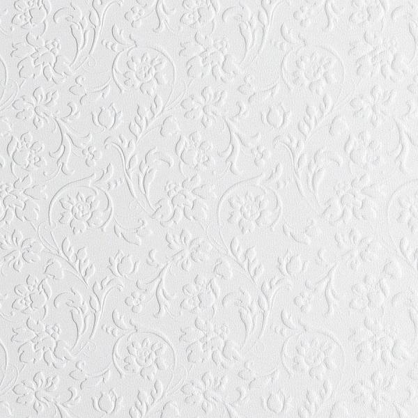 Panou decorativ 13473 FLORAL Baroque din piele 3D culoare oțel alb 0