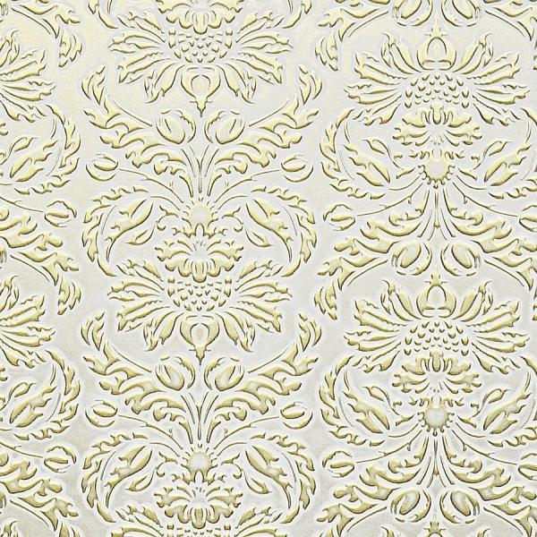 Panou decorativ 14793 IMPERIAL Baroc Damasc din piele 3D Optic Aur alb 0