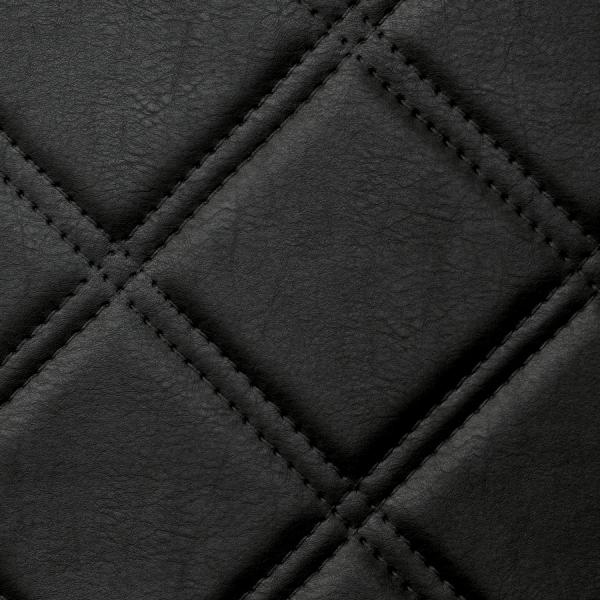 Panou decorativ 15030 ROMBO Checked Leather 3D Optics Negru 1