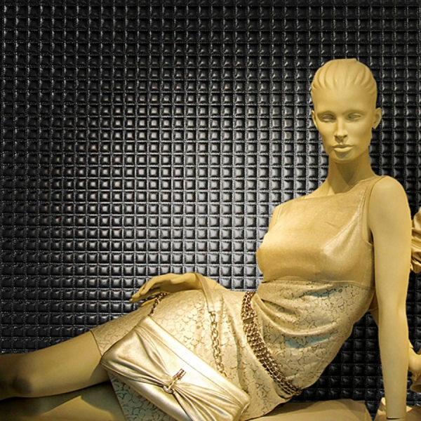 Panou decorativ 15032 Quadro piele Quilt 3D optica Negru 2