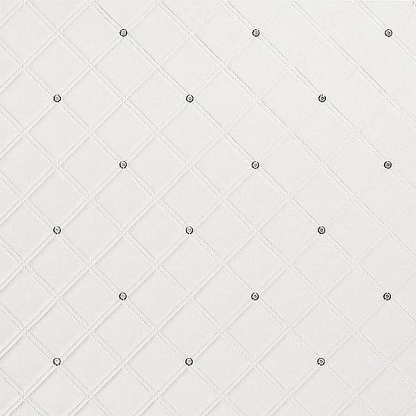 Panou decorativ 15044  CRISTAL din piele cu cristale de sticlă optică albă 0