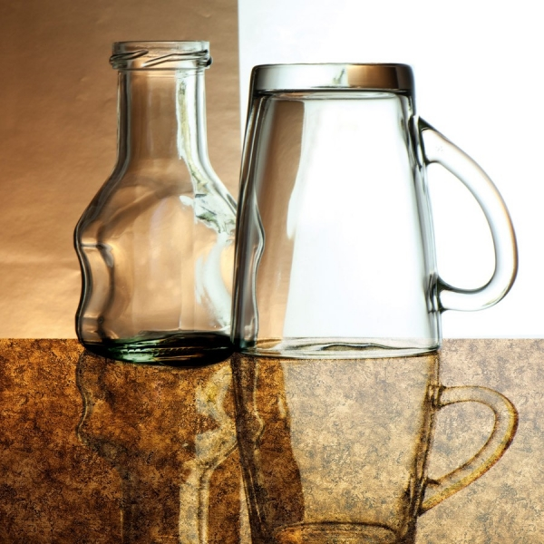 Panou decorativ 17161 VINTAGEaspect sticlă  de culoare brună 2