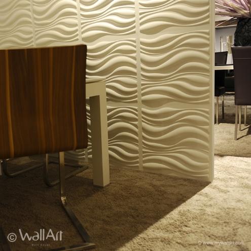 PANOURI DECORATIVE 3D WAVES, WALLART, 12 PLACI 50X50CM 0