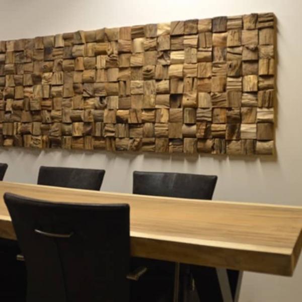 Panouri decorative 3D Teak Qubow, 10 placi 30x30cm [1]