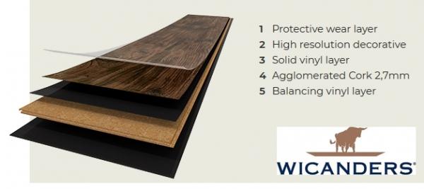 PARCHET PLUTA -Wheat Pine-HYDROCORK 4
