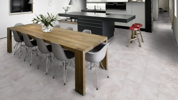 PARCHET PLUTA -Light Grey Marble-HYDROCORK 1