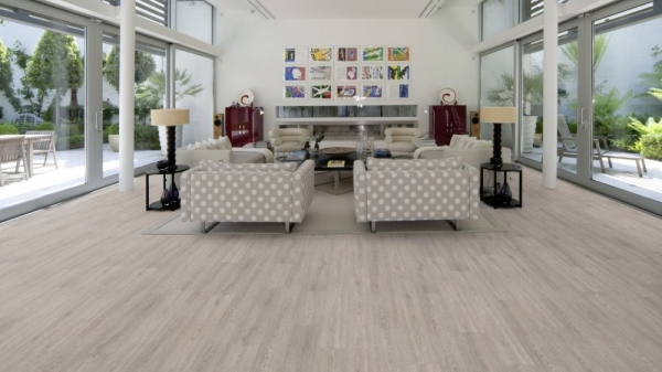 PARCHET PLUTA -Limed Grey Oak-HYDROCORK 3
