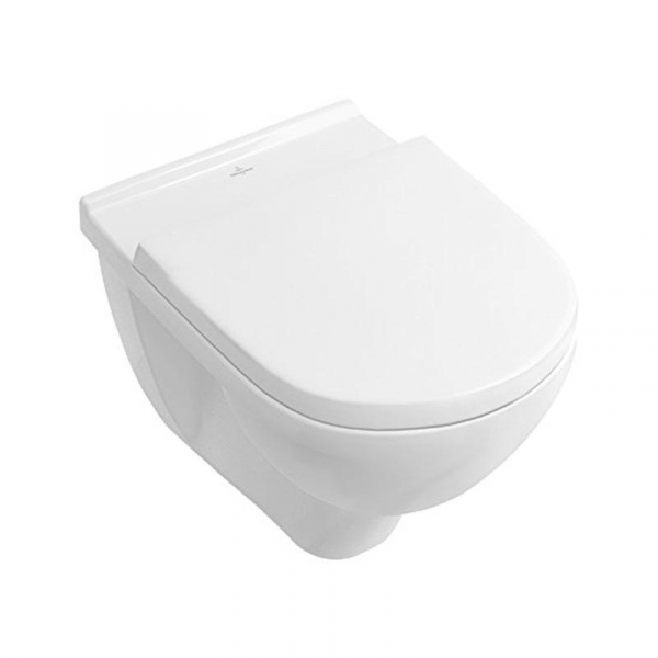 Set vas WC suspendat Villeroy & Boch, O.Novo, COMPACT, direct flush, cu capac soft close, alb 0