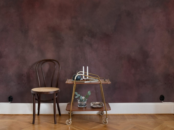 Tapet R13274 - Color Clouds Maroon 1