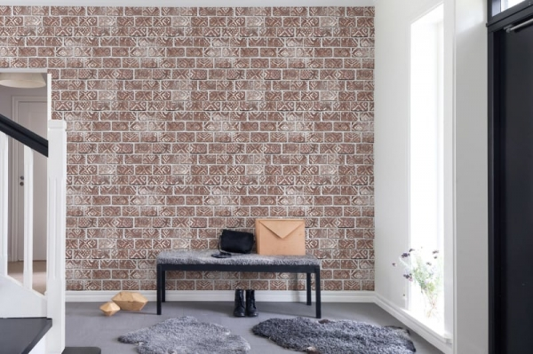 Tapet R15231- Decorated Bricks 2