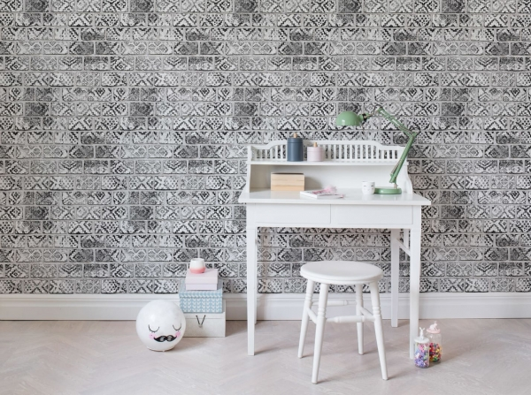 Tapet R15232- Decorated Bricks [2]