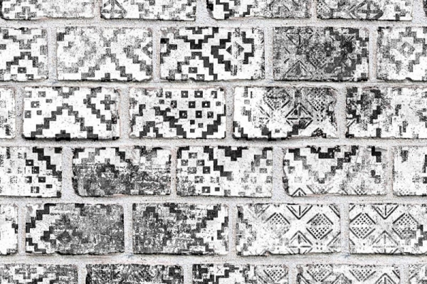 Tapet R15232- Decorated Bricks [0]