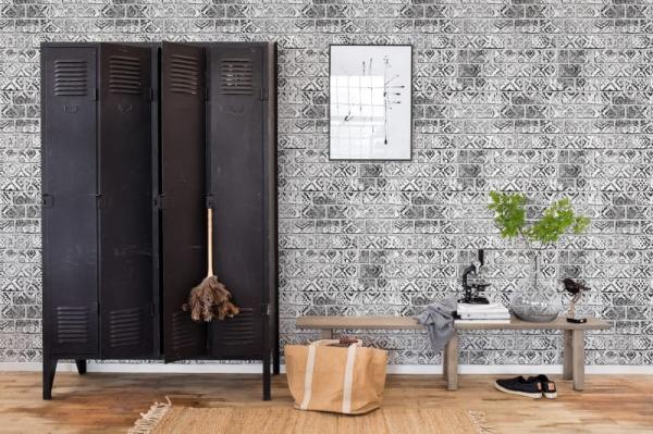 Tapet R15232- Decorated Bricks 1