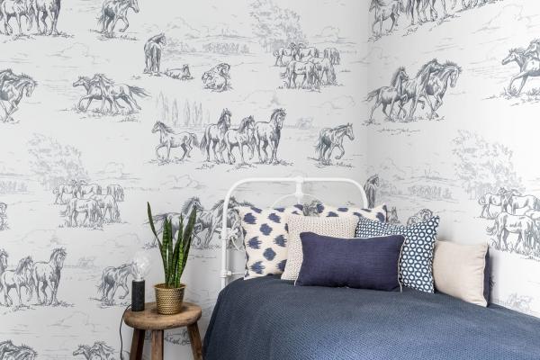 Tapet R15591-Horse Herd 1