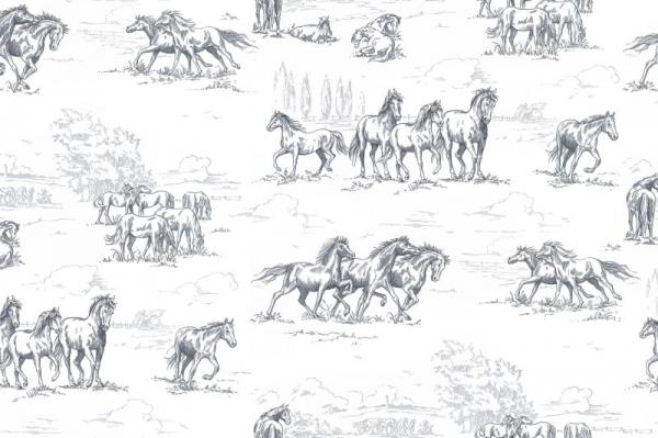 Tapet R15591-Horse Herd 0