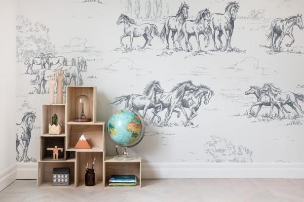 Tapet R15591-Horse Herd 2