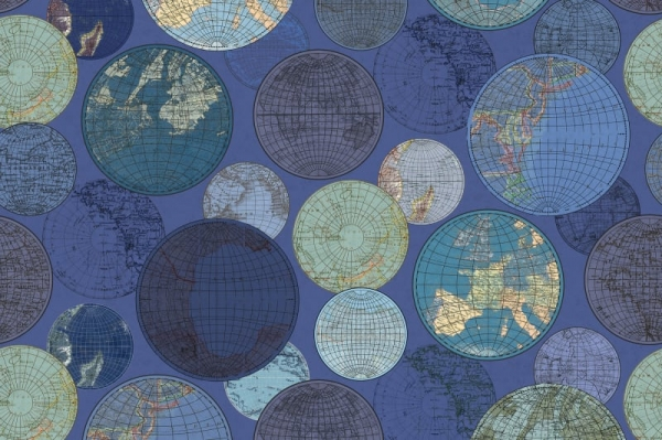 Tapet R13883 Globes Gathering, Blue [0]