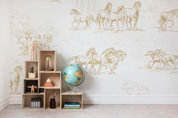 Tapet R15592-Horse Herd 1