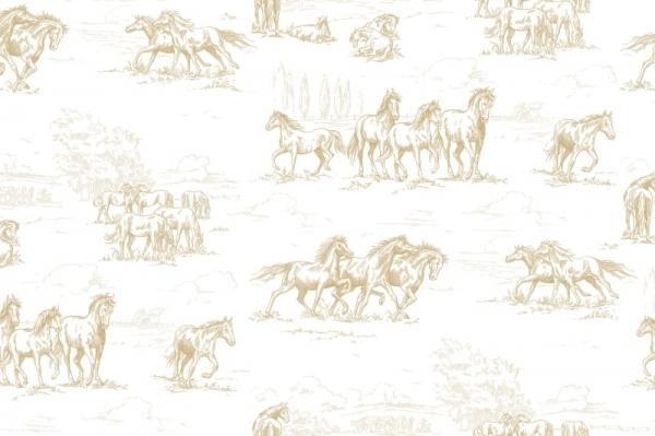 Tapet R15592-Horse Herd 0
