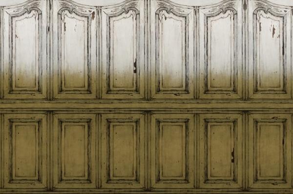 Tapet R15602- Parisian Panels -Dip Dye Yellow [0]