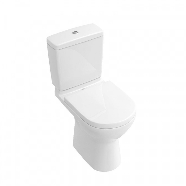 Set vas WC stativ Villeroy & Boch, O.Novo, direct flush, cu rezervor si capac soft close, alb 0