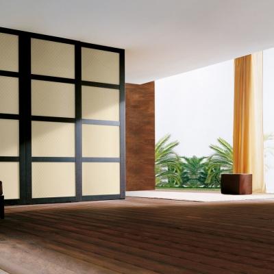 Panou de perete 13863 ROMBO 40 din piele culoare bej mată2