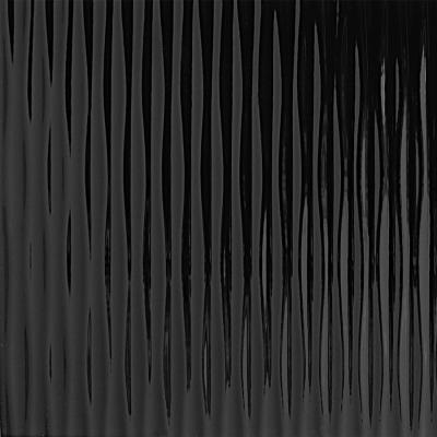 Panou de perete 15956 MOTION ONE Structure Waves Optică 3D din plastic negru1