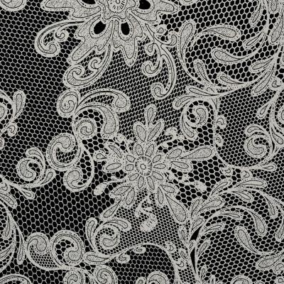 Panou de perete 17844 LACE dantela din piele franceză Look Black Platinum [1]